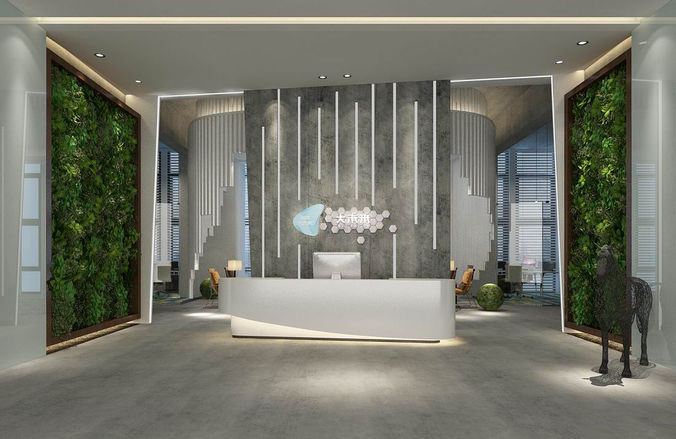 office meeting room reception hall 16 3d model max 1