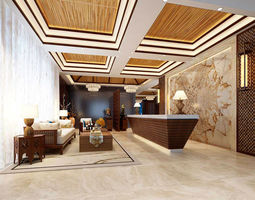 3D Office meeting room reception hall 27