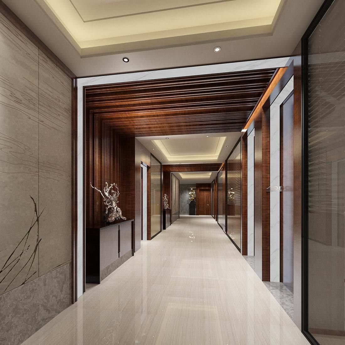 Office Receptiondesign:  Office Reception Hall Design Complete 05 3D Model