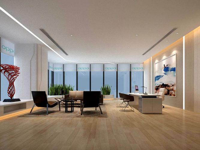 3d Model Office Reception Hall Design Complete 13