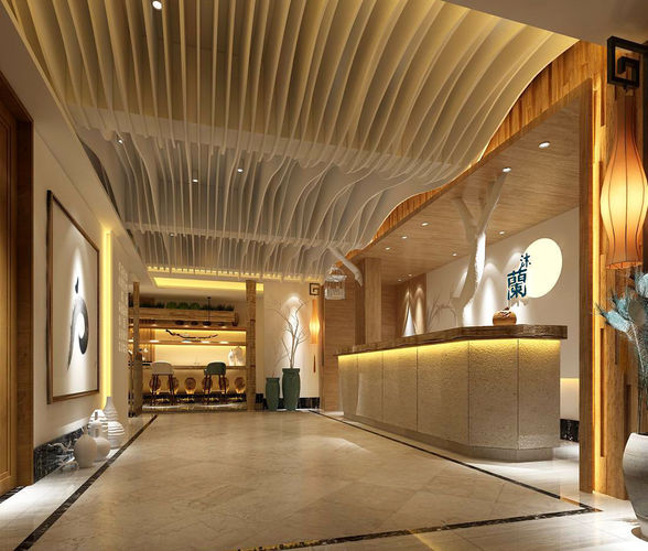 beauty salon reception hall spa center 03 3d model max 1 ... fa2178d8287