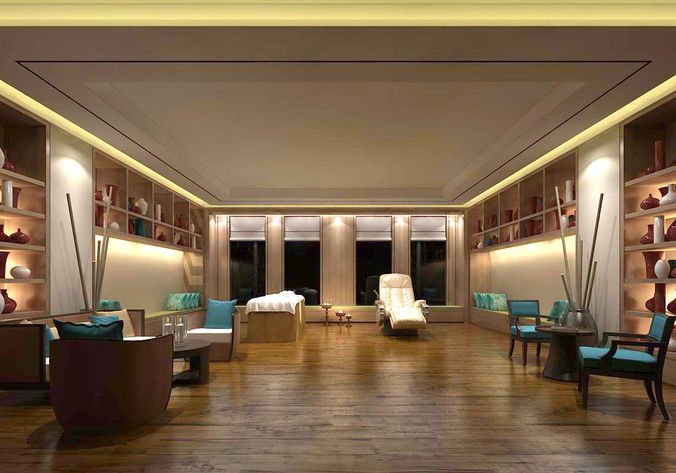 3D Beauty salon reception hall spa center 09  29c3f4a9487