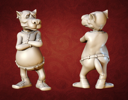Wolf Cartoon 3D print model