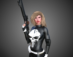 Lady Punisher -Lynn Michaels- 3D model