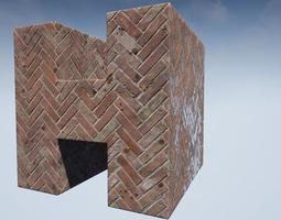 Seamless Customizable Walkway Material Pack 107 3D model