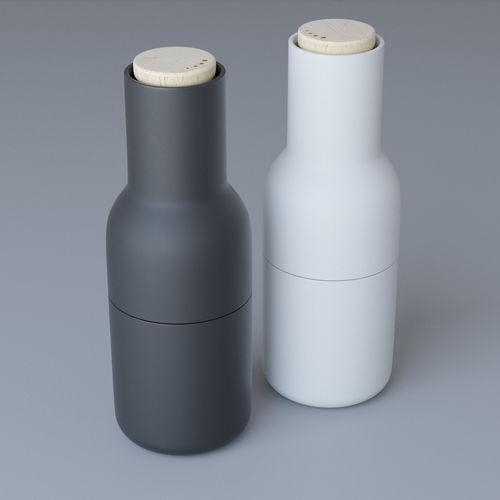 menu bottle grinder 3d model max obj mtl 1