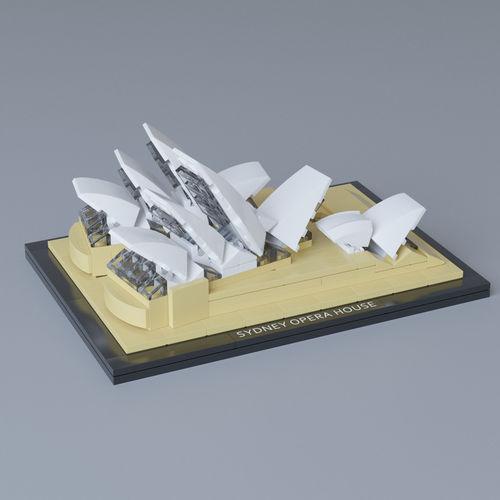 lego architecture sydney opera house 21012 3d model max obj mtl 1