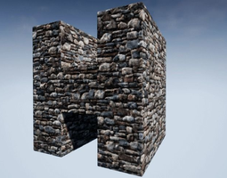 3D model Seamless Customizable Stonewall Material Pack 111