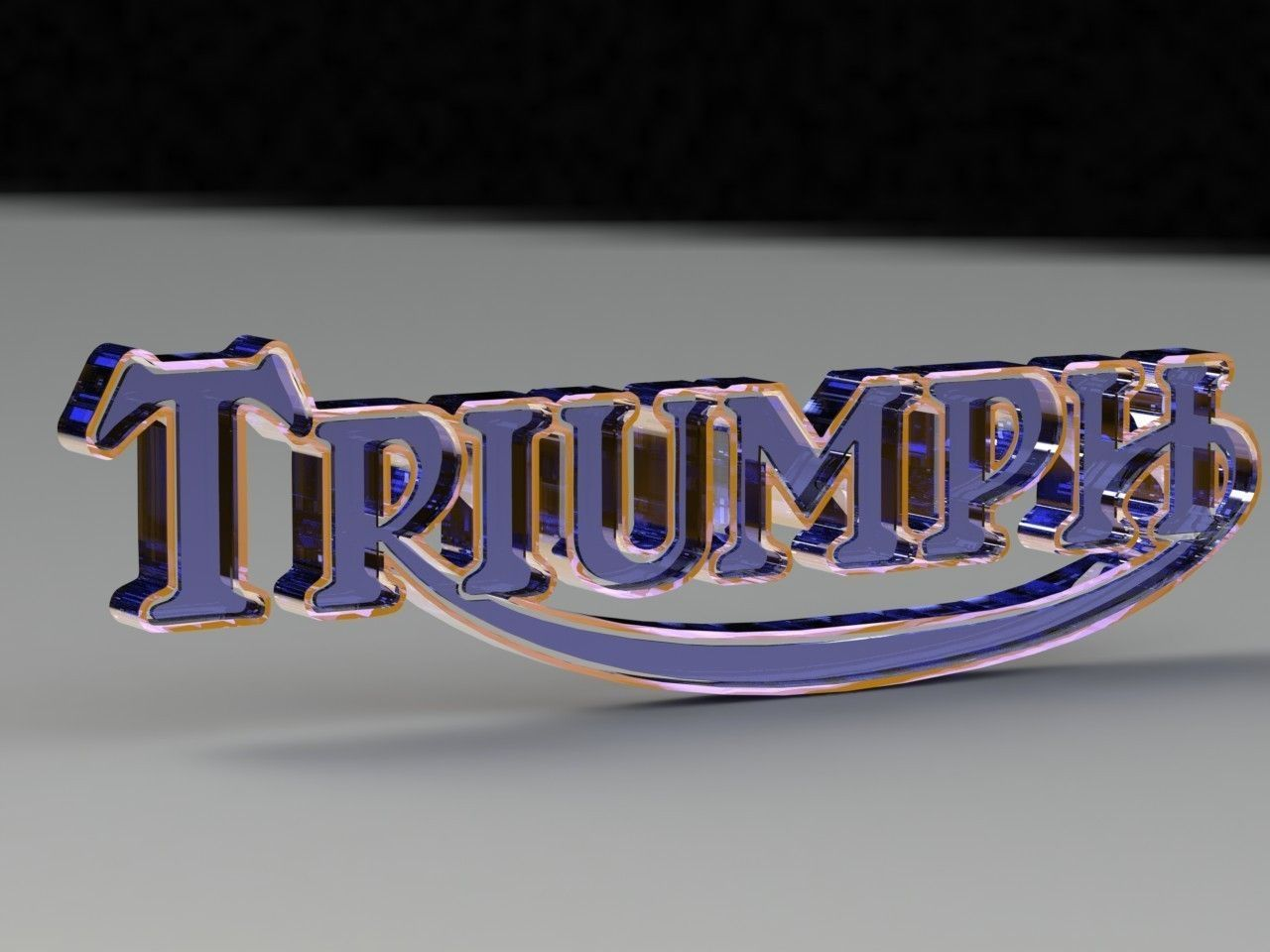 Triumph T Shirt >> 3D Triumph Logo free 3D Model 3D printable .stl .sldprt .sldasm .slddrw - CGTrader.com