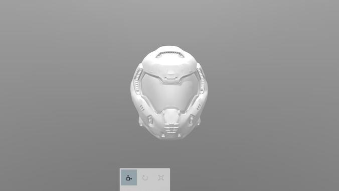 doom helmet 3d model obj 1