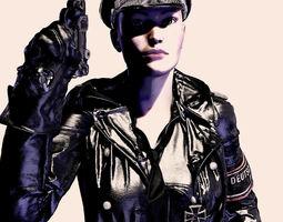 German SS Black Uniform V4 Poser 3D model