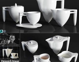 3D model Heinrich Wang tea set from the collection 2