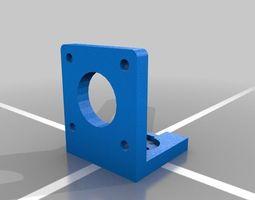 3d printable model nema 17 motor mount - horizontal bracket