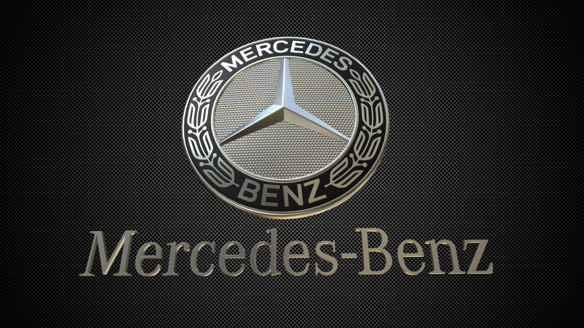 3d Model Avto Mercedes Benz Logo 3 Cgtrader