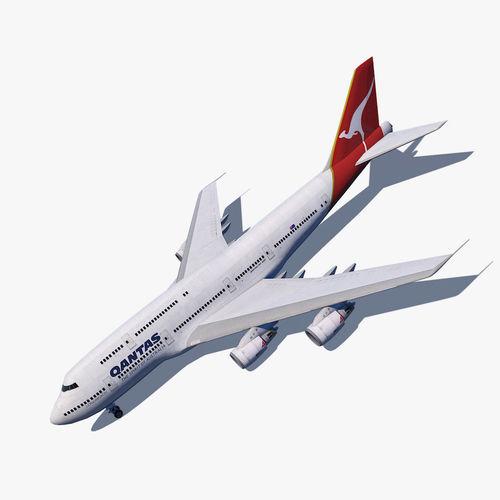 boeing 747-8i qantas the spirit of australia 3d model max obj mtl 3ds fbx c4d dae 1