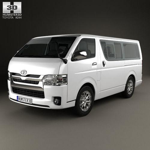 toyota hiace lwb combi with hq interior 2013 3d model max obj mtl 3ds fbx c4d lwo lw lws 1
