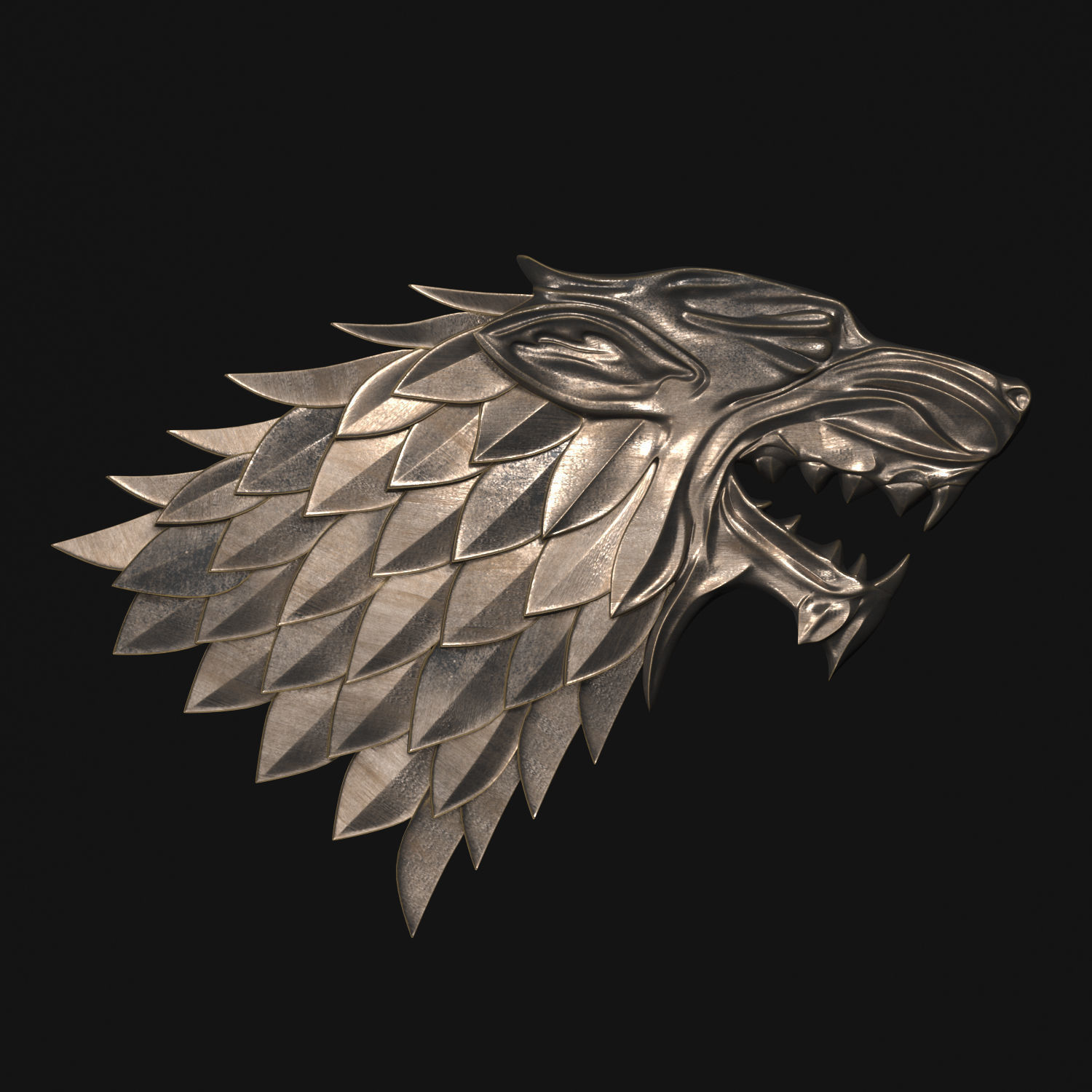 High Quality ... Game Of Thrones   House Stark 3d Model Max Obj Stl Mtl 2 ...