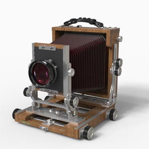 large format camera 3d model max obj fbx mtl 1