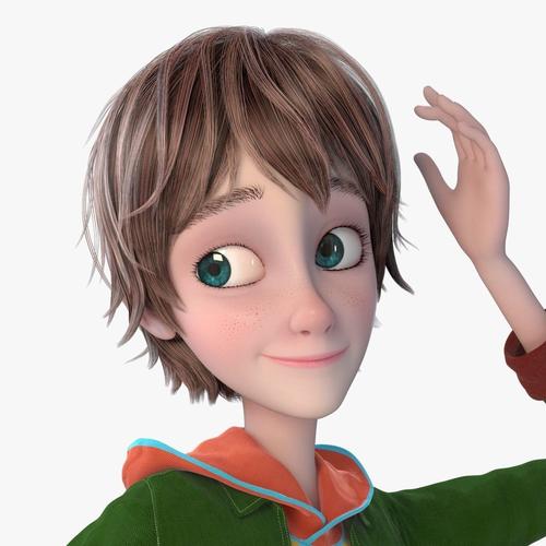 Man Cartoon Boy Rigged 3d Cgtrader