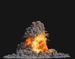 animated Houdini Explosion Asset Sand Advection 2