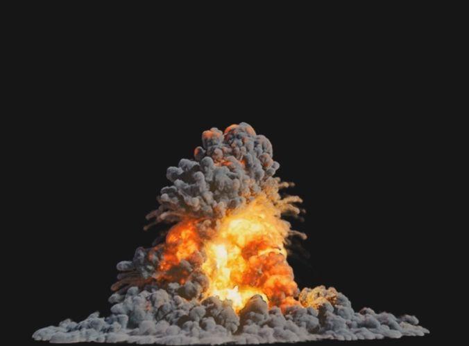 houdini explosion asset sand advection explosion lifetime lisc 3d model rigged animated hda hip bgeo geo bclip clip hipnc 1