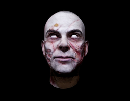 Zombie Head Low Poly 3D model