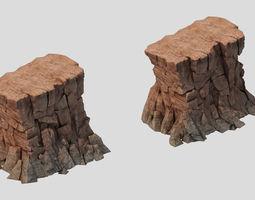 3D model Sennard - Cliffs 02