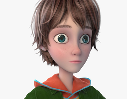 3D model male Cartoon Boy NoRig