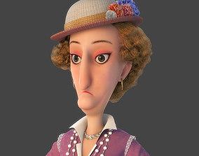 female 3D Cartoon Woman