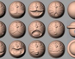 3D Cartoon Modes 18 Doraemon Cats A025