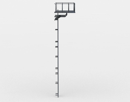 game-ready ladder 3d model