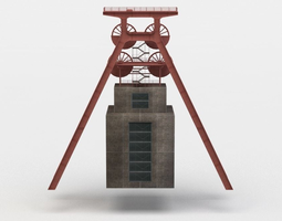 shaft tower VR / AR ready 3d model