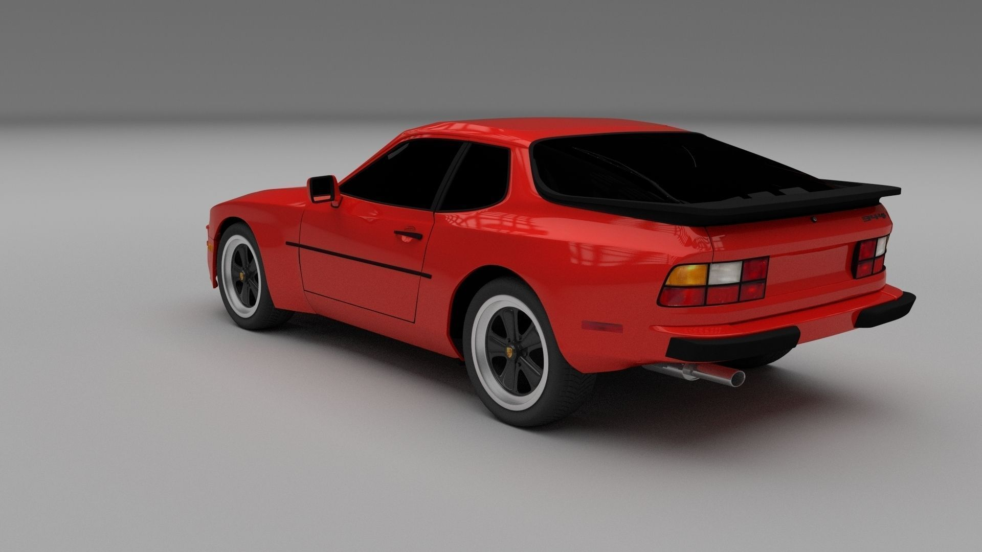 Porsche 944 3d Model Obj Stl Blend Dae Cgtrader Com