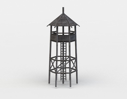 Hunting tower 3D model low-poly