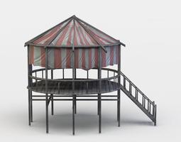 game-ready 3d asset terrace