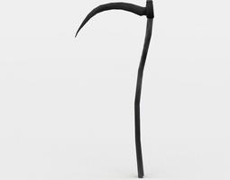 3d model scythe low-poly