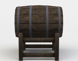 3d asset barrel