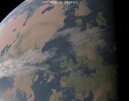 animated Alien planet model 2 - 16k photorealistic -warm