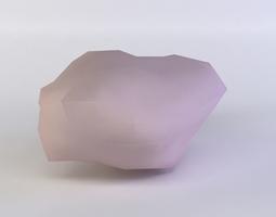 realtime pink rock2 3d model