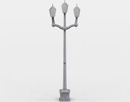 street light low-poly 3d model