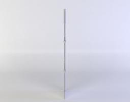 3d asset low-poly metal arch