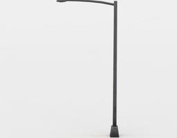 game-ready light pole 3d asset