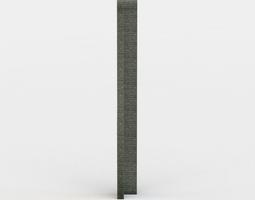 3d model wall corner low-poly
