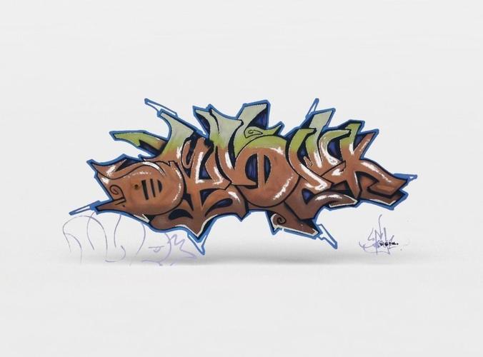 3d Model Graffiti Vr Ar Low Poly Obj Mtl Fbx C4d Lwo Lw Lws Dae X