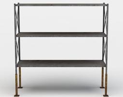low-poly shelf large 3d asset