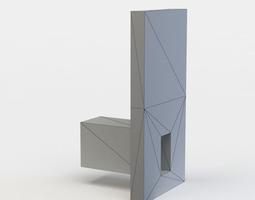 VR / AR ready 3d model shelf