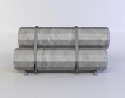 metal tubes low-poly 3d asset