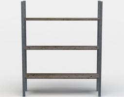3d model game-ready shelf