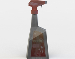 spray cleaner game-ready 3d asset