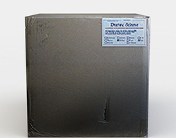 3d model cardboard box low-poly